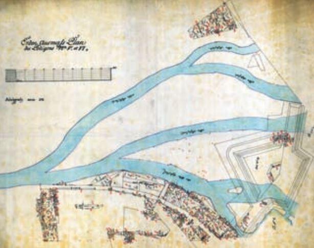 Soutok bývalých labských ramen s Orlicí (1771)