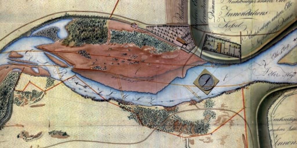 Labe pod soutokem s Orlicí (1808)